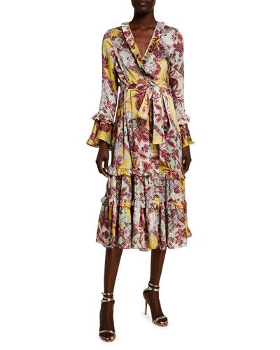 Wiera Printed Wrap Dress