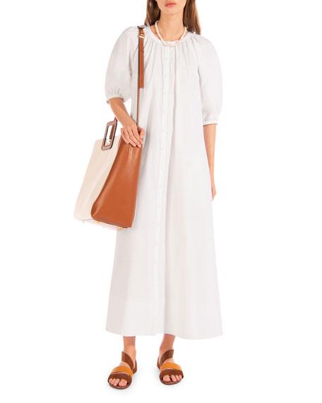 Staud Vincent Button-Front Dress
