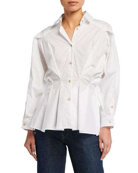 palmer//harding Sunda Cinched-Waist Button-Down Shirt