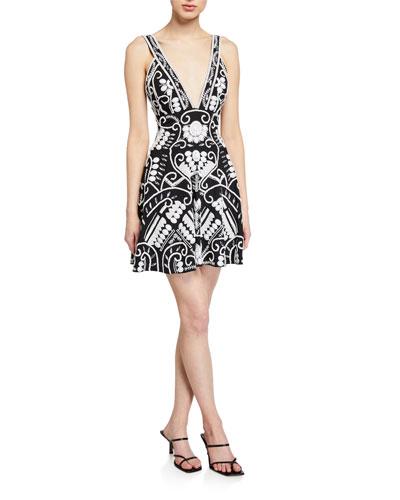 Jerza Embroidered Short Dress