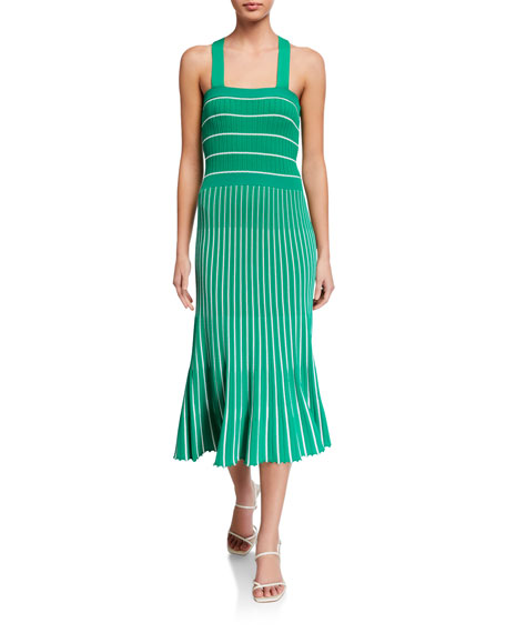 Alexis Bess Striped Sleeveless Long Dress