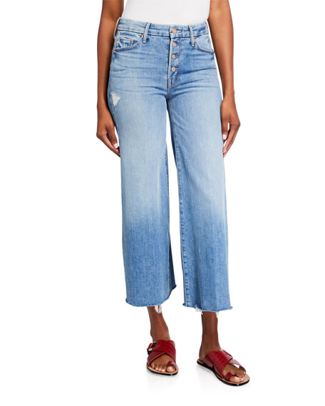 MOTHER The Pixie Roller Ankle Fray Jeans