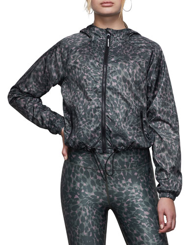 Printed Hooded Running Jacket - Inclusive Sizing