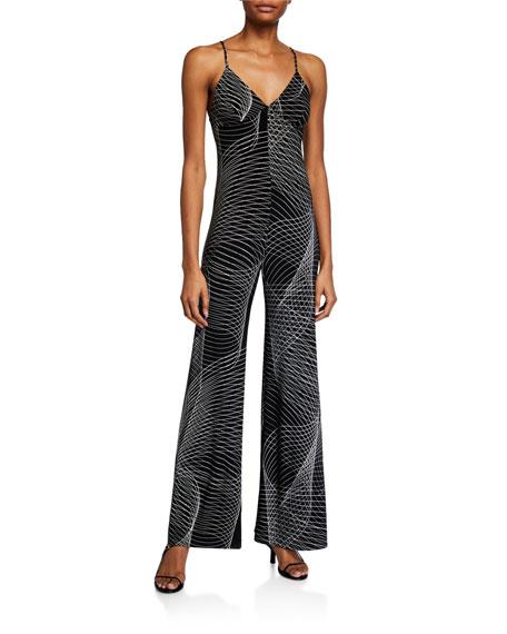 Norma Kamali Printed Slip Jumpsuit