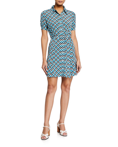 Diane von Furstenberg Jett Geo-Print Mini Dress
