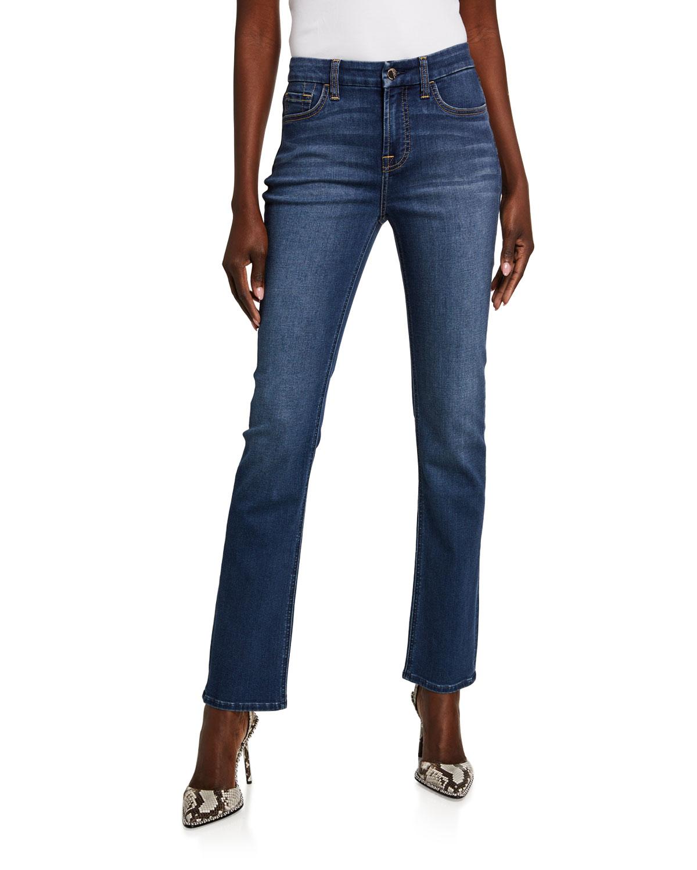 High-Rise Slim-Fit Straight-Leg Jeans