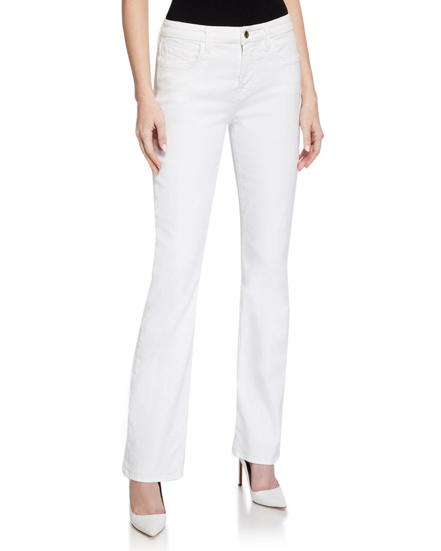 High-Rise Slim-Fit Boot Cut Jeans