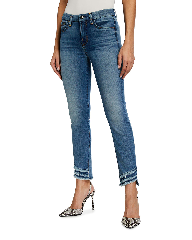 Ankle Skinny Frayed Hem Jeans