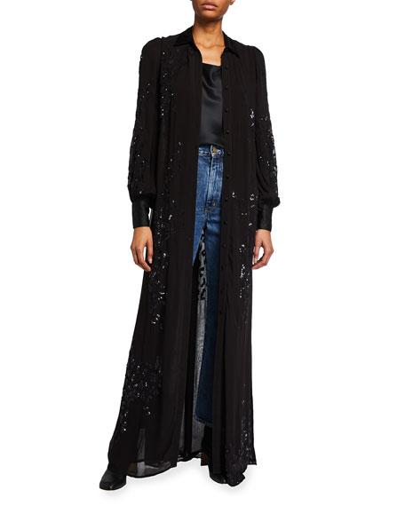 Retrofete Sequin Maxi Dress