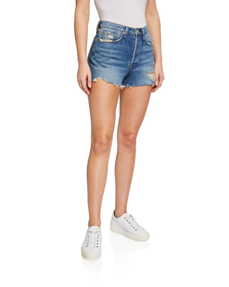 Rag & Bone Maya High-Rise Cutoff Denim Shorts