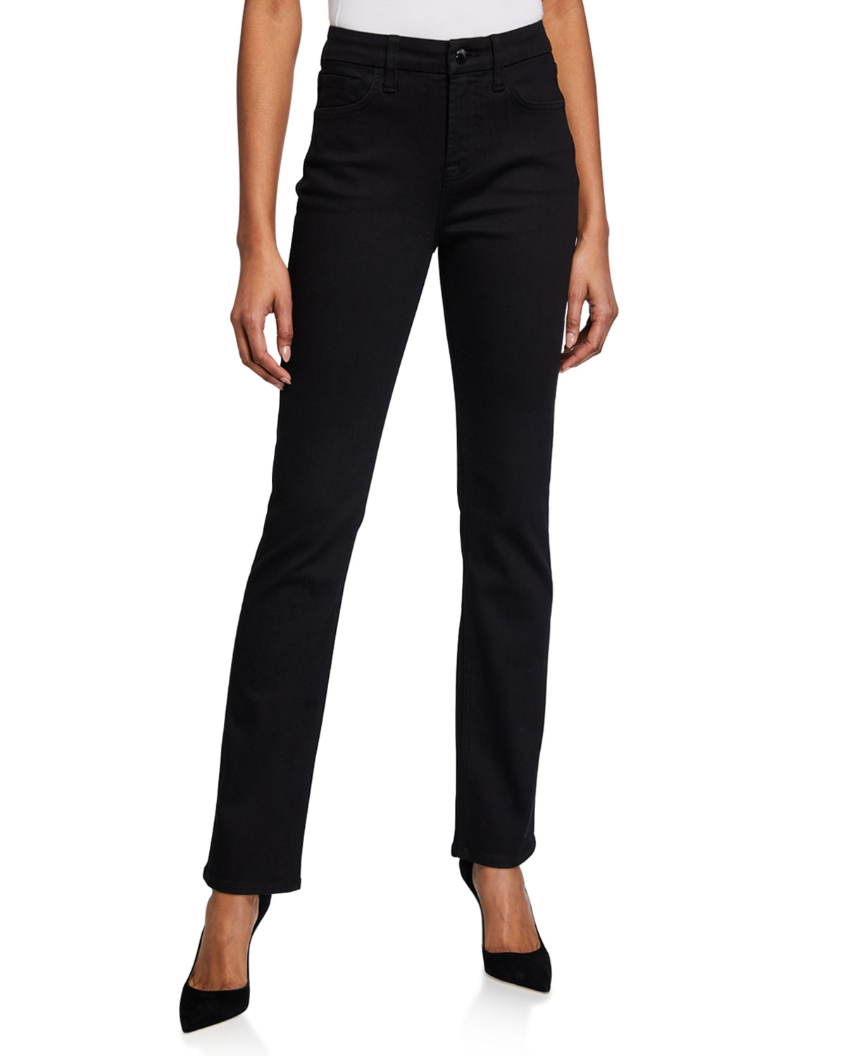 High-Rise Slim Straight-Fit Jeans
