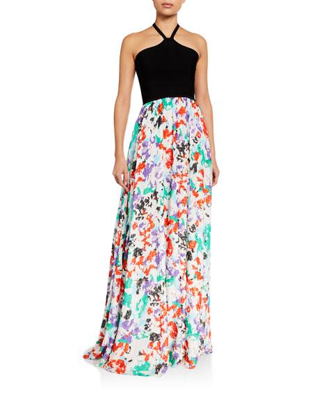 Tanya Taylor Fifi Halter Maxi Dress