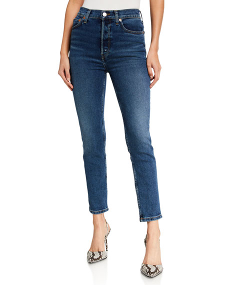 RE/DONE 90s High-Rise Ankle Cropped Jeans