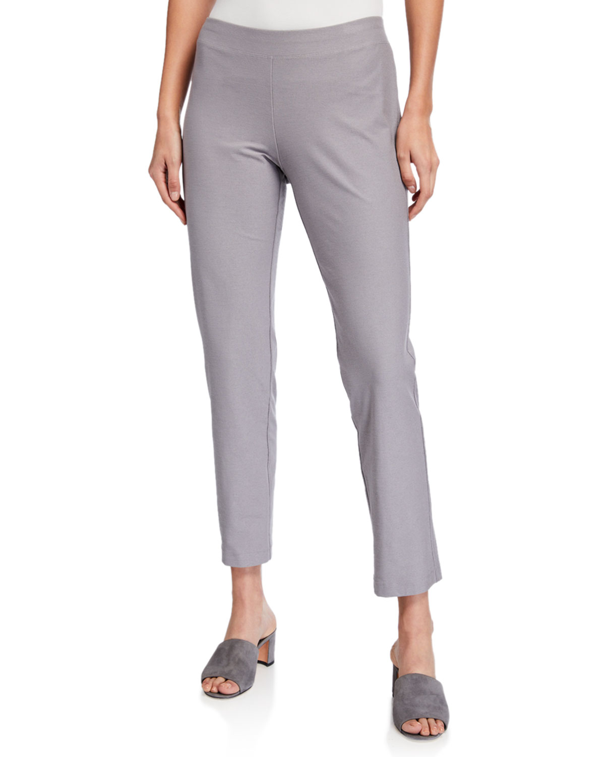 Eileen Fisher Pants PLUS SIZE WASHABLE STRETCH CREPE ANKLE PANTS