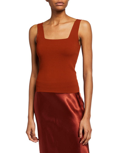 Fitted Square-Neck Tank