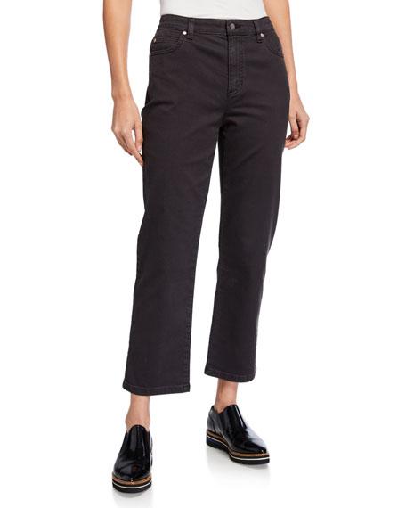 Eileen Fisher Garment Dyed Straight-Leg Jeans