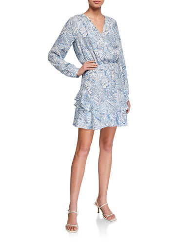Harbin Printed Long-Sleeve Dress
