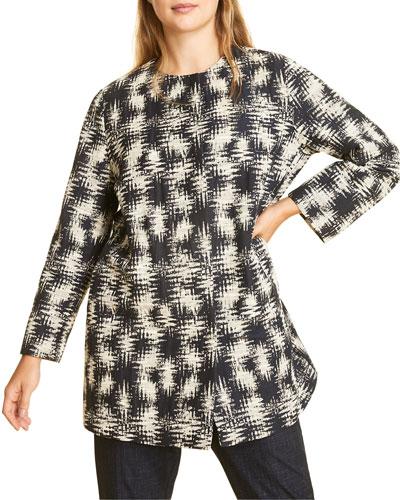 Plus Size Tattica Cotton Jacquard Jacket