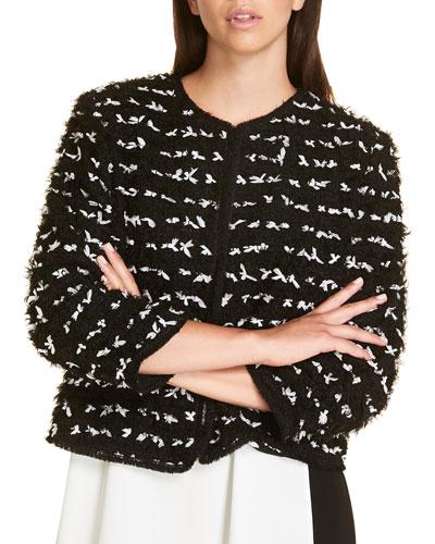 Plus Size Cometa Short Jacket with Bows