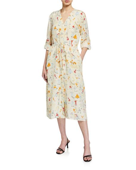 Stine Goya Camilla Printed Button-Front Dress