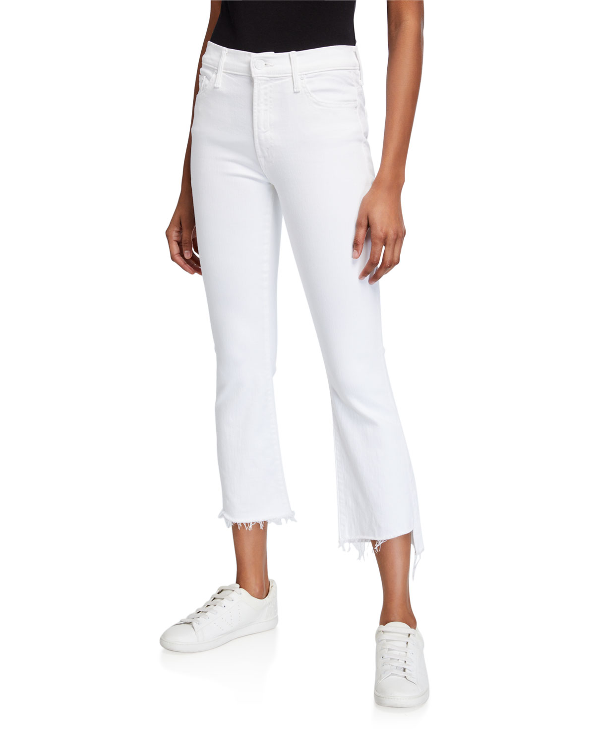 Mother Flared jeans THE INSIDER CROP STEP FRAY JEANS