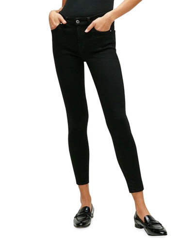 The Ankle Skinny Jeans, Black