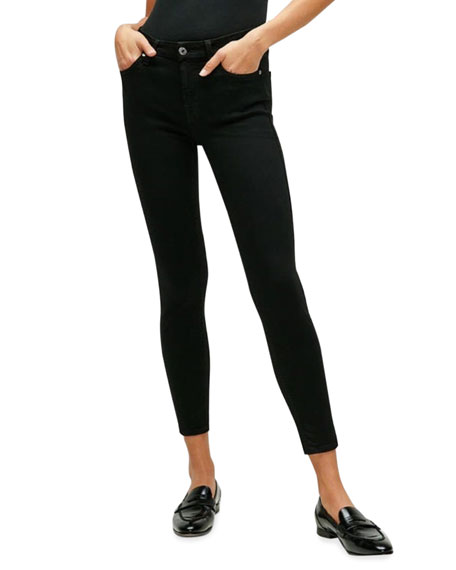 7 for all mankind The Ankle Skinny Jeans, Black