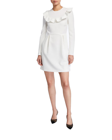 REDValentino Long-Sleeve Crepe Double Stretch Dress