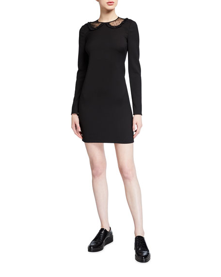 REDValentino Long-Sleeve Cady Tech Dress