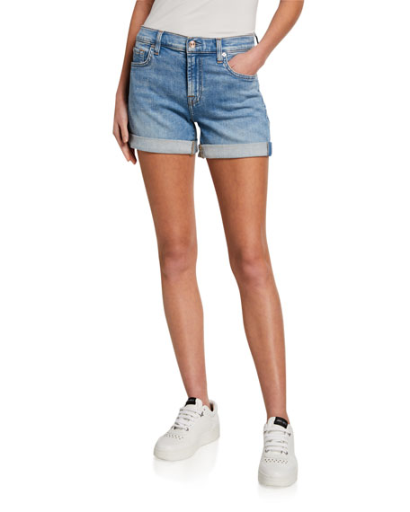 7 for all mankind Mid-Rolled Denim Shorts
