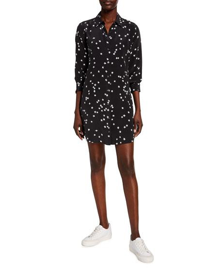 Equipment Essential Star Print Silk Dress