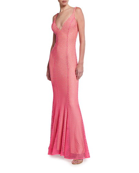 Jovani Embellished Net Backless Gown