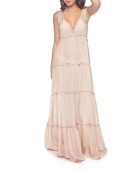 PQ Swim Gulsina Long Tiered Coverup Dress