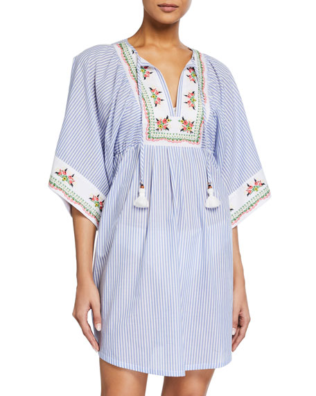 Tory Burch Embroidered Beach Tunic Coverup