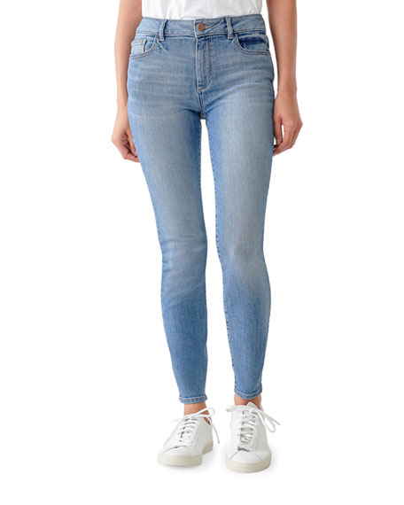 DL1961 Premium Denim Florence Cropped Mid-Rise Skinny Jeans