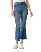 DL1961 Premium Denim Rachel Cropped High-Rise Flare Jeans