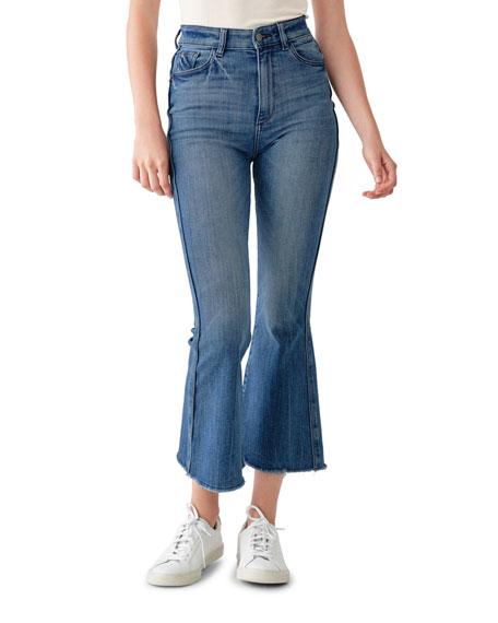 DL1961 Premium Denim Rachel Cropped High-Rise Flare Jeans