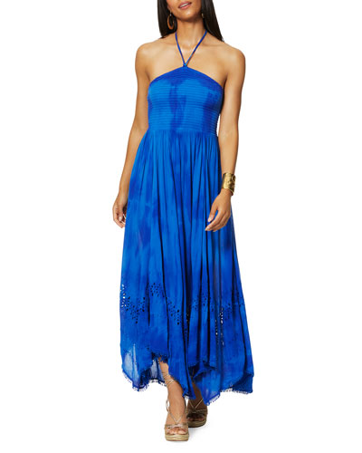 Martina Tie-Dye Halter Coverup Dress