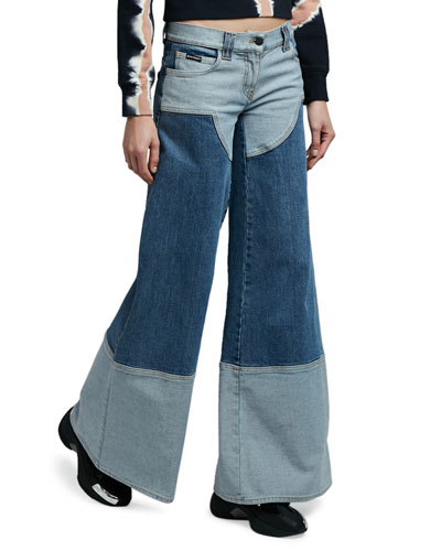 Wide-Leg Five-Pocket Jeans