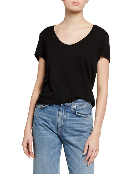 Frank & Eileen Tee Lab Essential Jersey Scoop-Neck Tee
