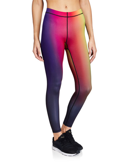 Terez Rainbow Gradient Printed Active Leggings