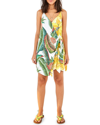 Azalea Forest Mini Wrap Dress