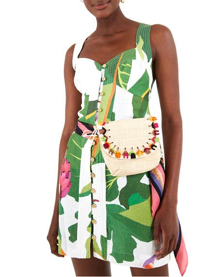 Farm Rio Tropicalistic Linen Mini Dress