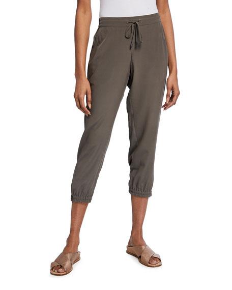 Go Silk Plus Size Cropped Parachute Pants