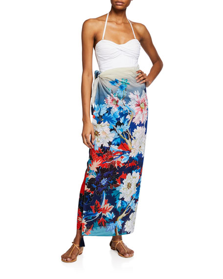 Johnny Was Marritt Floral Print Sarong