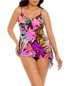 Magicsuit Alex Palm Springs Side-Tie Tankini Swim Top