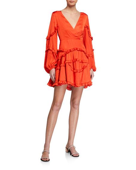 Bardot Nala Frilly Deep-V Dress