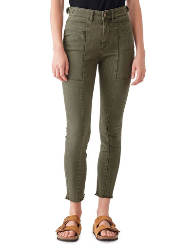 Farrow Cropped High-Rise Skinny Jeans