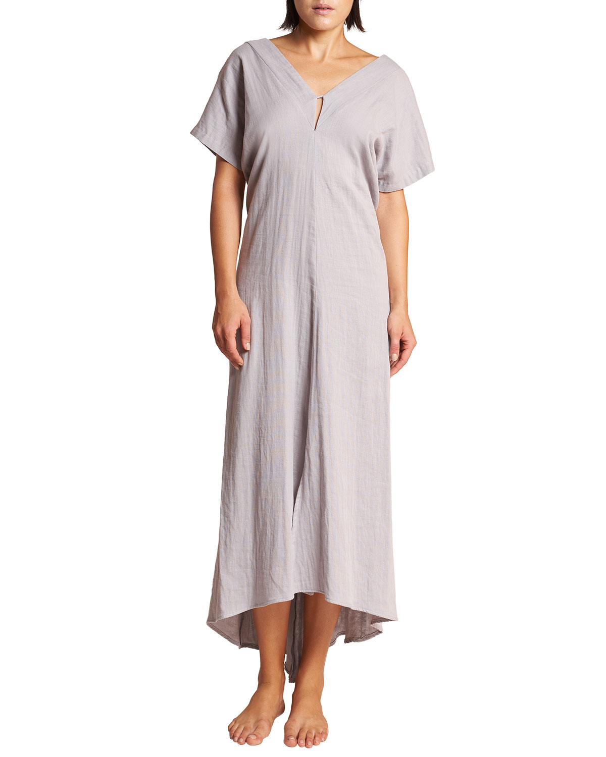 Tyche V-Neck High-Low Maxi Dress