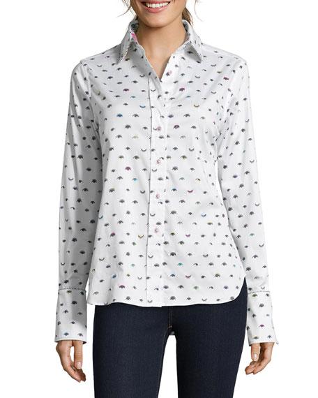 Robert Graham Priscilla Wink-Print Button-Down Shirt